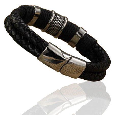 juoda apyranke odine metalines detales smart and art fashion mada aksesuarai stilingi isskirtiniai