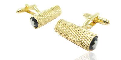 sasagos auksinis cilindras smart and art fashion men cufflings gold stilingas