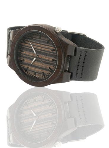 laikrodis bambukinis medinis juodos spalvos smart and art fashion aksesuarai stilingi