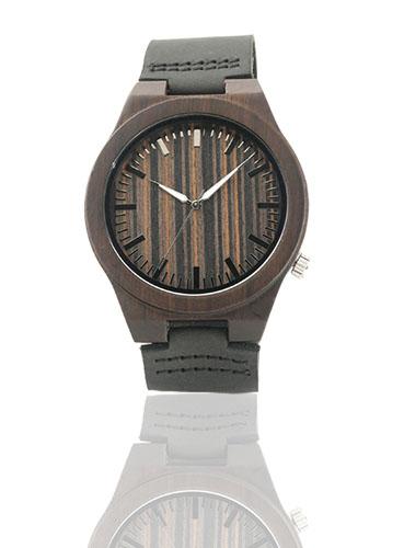 laikrodis medinis juodos spalvos bamukinis smart and art fashion stilingi aksesuarai